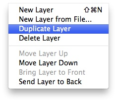 Layers Menu